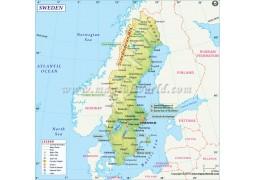 Sweden Map - Digital File
