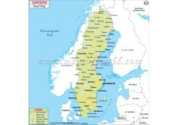 Buy Sweden Maps From Online Map Store - Sweden map varmland