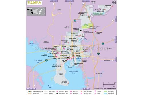 Tampa City Map