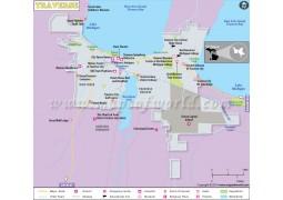 Traverse City Map - Digital File