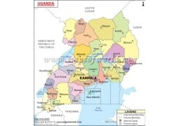 Uganda Political Map - Digital File