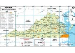 Virginia Latitude Longitude Map