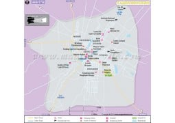 Yamoussoukro City Map - Digital File