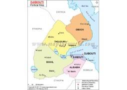 Djibouti Political Map - Digital File