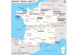 France Travel Map  - Digital File