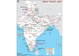 India Travel Map - Digital File