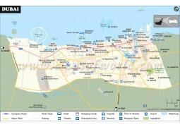 Dubai Map - Digital File