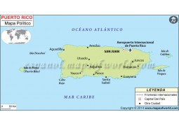 Puerto Rico Map in Spanish - Digital File