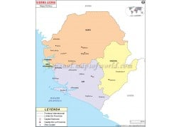 Sierra Leone Map in Spanish - Digital File