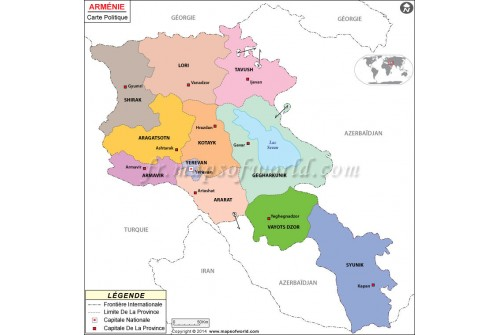 Armenia Map in French
