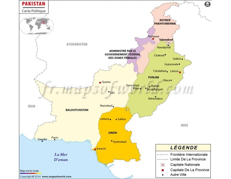Buy pakistan map in french language pakistan map in french language gumiabroncs Choice Image