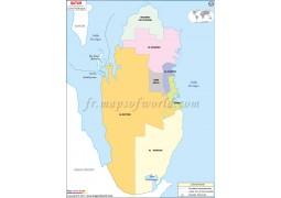 Qatar Map in French - Digital File