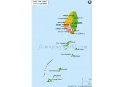 Saint Vincent And The Grenadin Map - Digital File