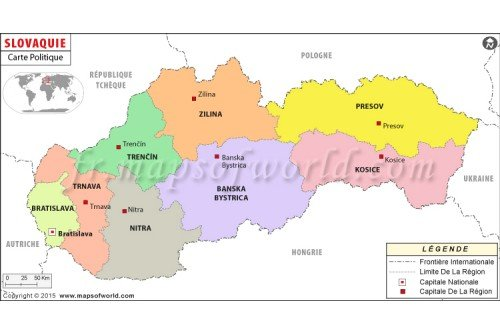 Slovakia Map in French