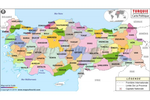 Turquie Carte Politique-Turkey Political Map