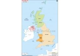 Royaume-UNI Carte Politique-United Kingdom Political Map - Digital File