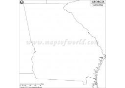 Georgia Outline Map - Digital File