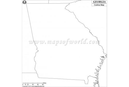 Georgia Outline Map