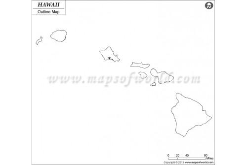 Blank Map of Hawaii
