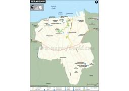 Heraklion City Map - Digital File