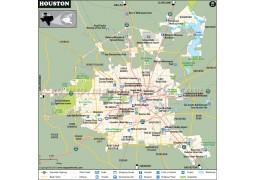 Houston Map - Digital File