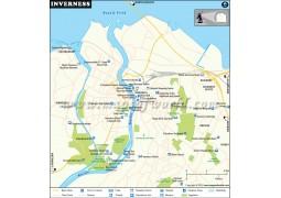 Inverness City Map - Digital File