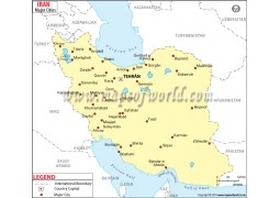 Iran Cities Map - Digital File