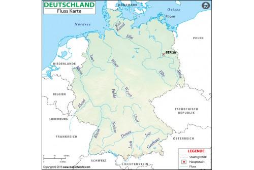 Germany River Deutsch Map
