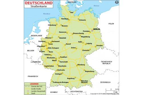 Germany Road Deutsch Map