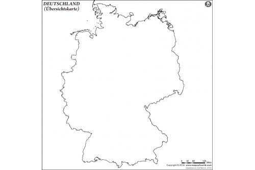 Germany Outline Deutsch Map