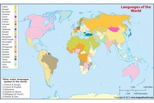 Sprachen der Welt (Map of the World Languages)