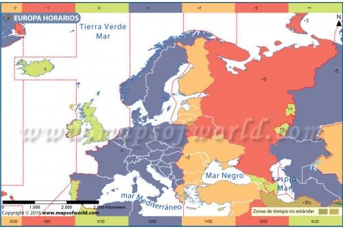 Europe Time Zone Spanish