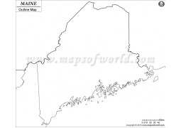 Blank Map of Maine - Digital File