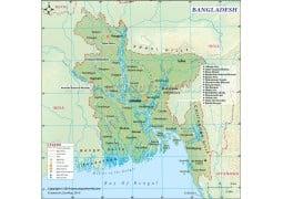 Bangladesh Digital Map - Digital File