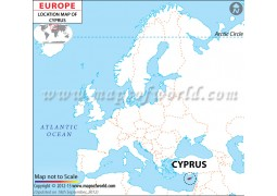 Cyprus Location Map - Digital File
