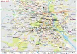 Delhi Map - Digital File