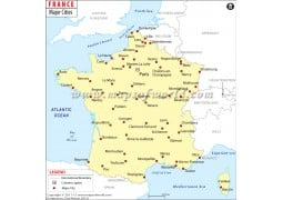 Map of France with Cities - Digital File