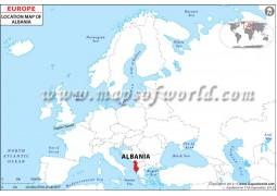 Albania Location on World Map