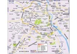 Delhi Road Map - Digital File