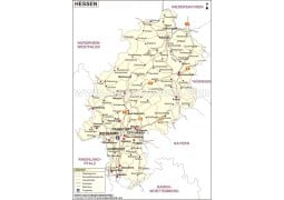 Hessen Karte - Digital File