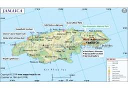 Jamaica Map - Digital File