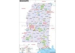 Map of Mississippi - Digital File
