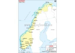 Buy Norway Maps From Online Map Store - Norway map of cities