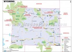Map of Wyoming - Digital File