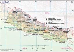 Nepal Map - Digital File