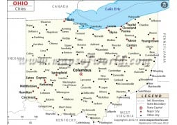 Map of Ohio Cities - Digital File