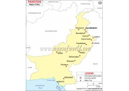 Pakistan Map withCities
