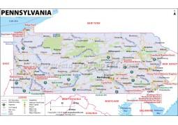 Map of Pennsylvania - Digital File
