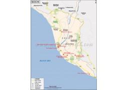 Sochi Map - Digital File
