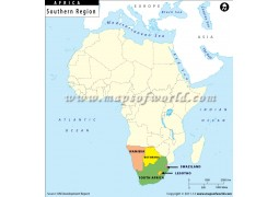 Southern Africa Region Map - Digital File
